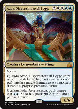 Azor, Dispensatore di Legge