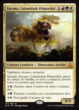 Zacama, Calamidade Primordial