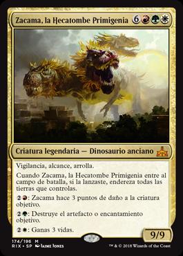 Zacama, la Hecatombe Primigenia