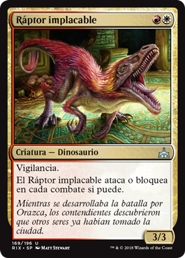 Ráptor implacable