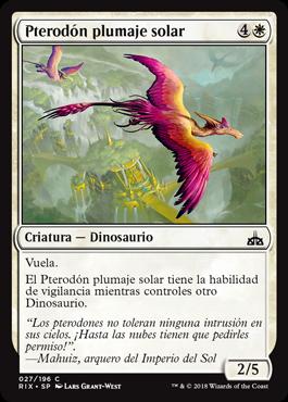 Pterodón plumaje solar
