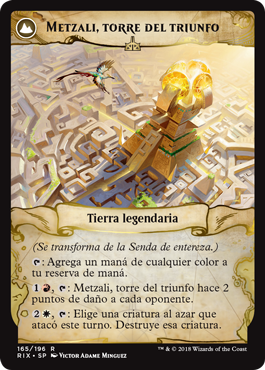 Metzali, torre del triunfo
