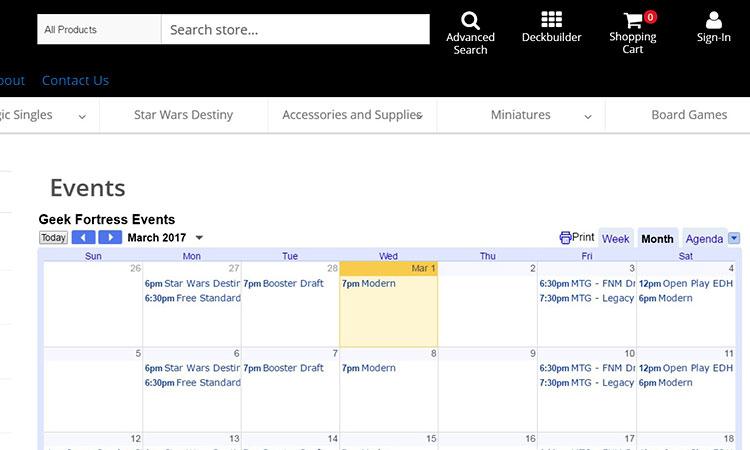 Calendario Per Sito Web.Wizards Play Network