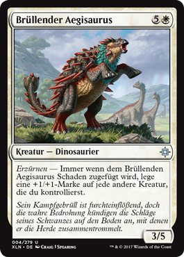 Brüllender Aegisaurus