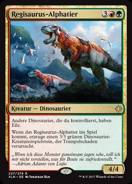 Regisaurus-Alphatier