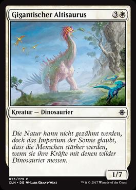 Gigantischer Altisaurus