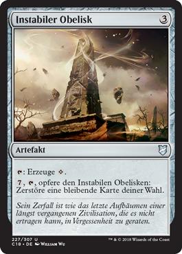 Instabiler Obelisk