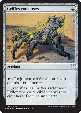 Griffes racleuses