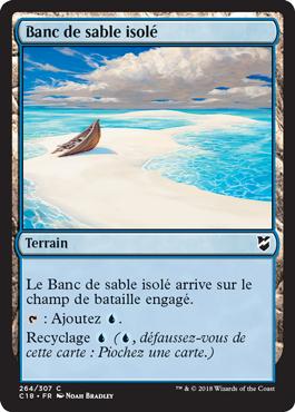Banc de sable isolé