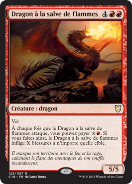 Dragon à la salve de flammes