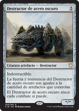 Destructor de acero oscuro