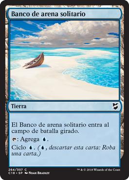 Banco de arena solitario