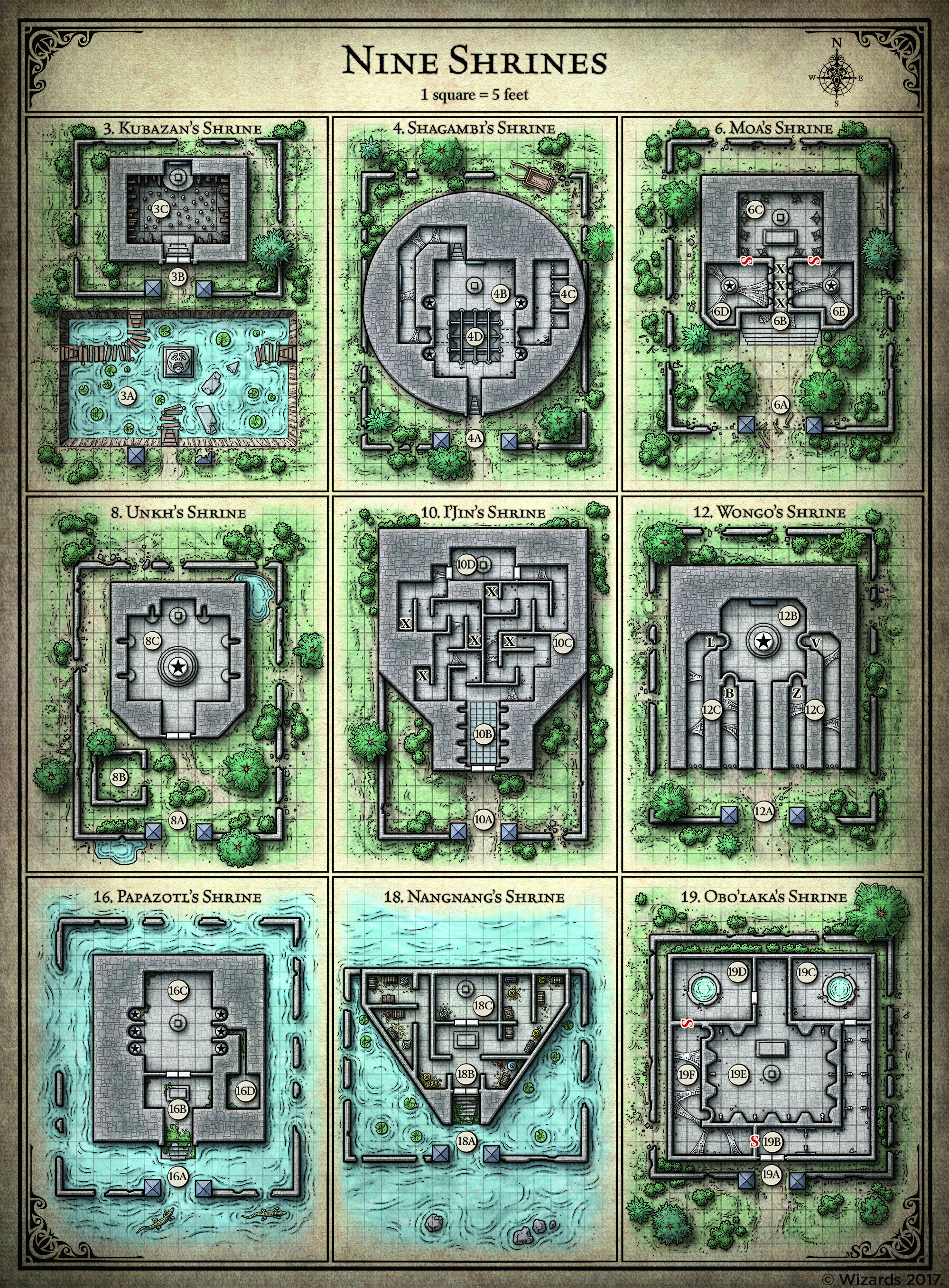 All Freely Available Tomb of Annihilation Maps : DnD