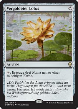 Vergoldeter Lotus