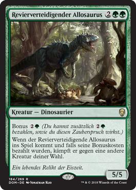 Revierverteidigender Allosaurus