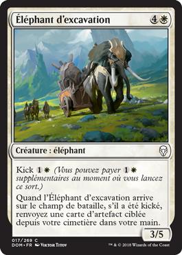 Éléphant d'excavation