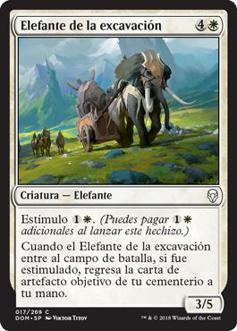 Elefante de la excavación