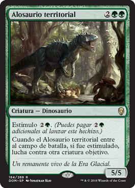 Alosaurio territorial