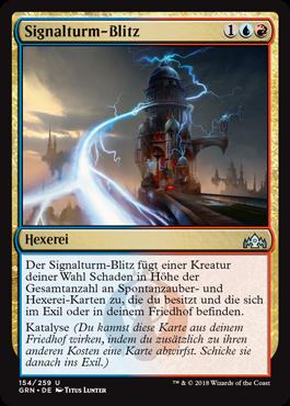 Signalturm-Blitz