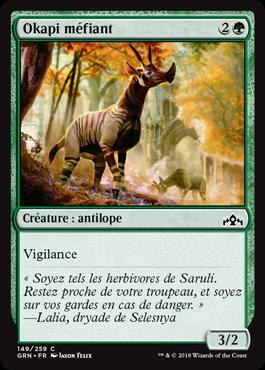 Okapi méfiant