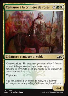 Centaure à la crinière de roses