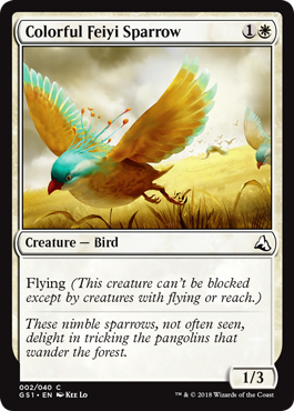 Colorful Feiyi Sparrow