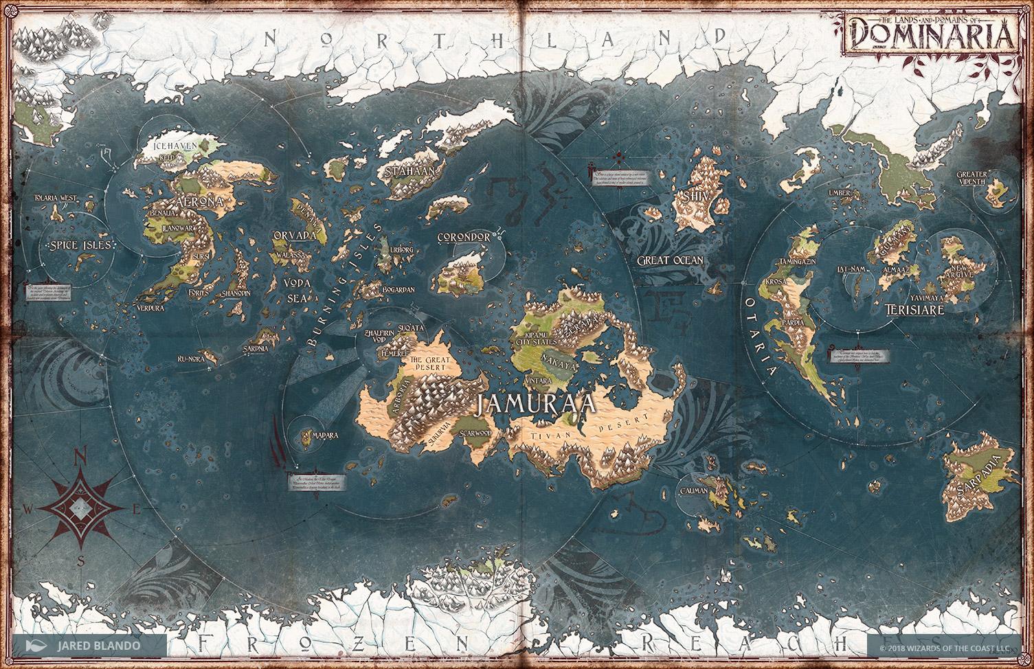 Dominaria Map