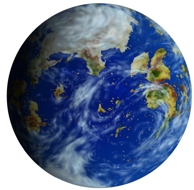 Dominaria Globe (Digital Rendering) | Art by Pete Venters