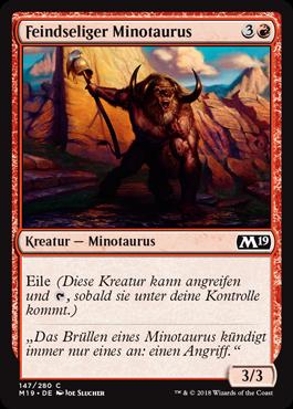 Feindseliger Minotaurus