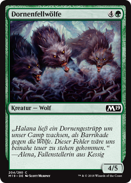 Dornenfellwölfe