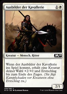 Ausbilder der Kavallerie