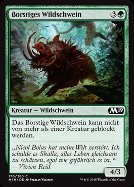 Borstiges Wildschwein