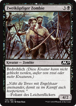 Zweiköpfiger Zombie