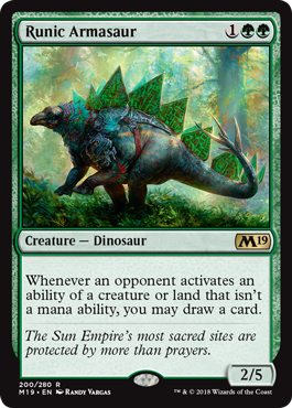 Runic Armasaur - Magic: the Gathering