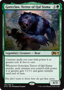 Goreclaw, Terror of Qal Sisma - Magic: the Gathering