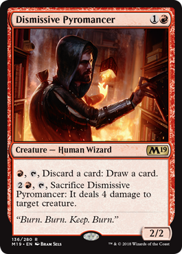 Dismissive Pyromancer - Magic: the Gathering