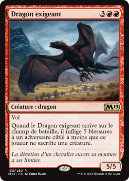 Dragon exigeant