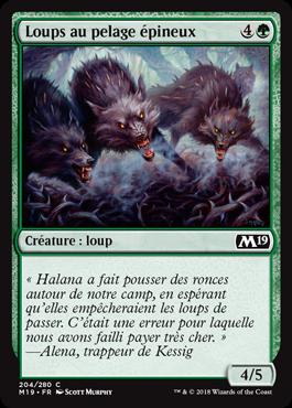 Loups au pelage épineux