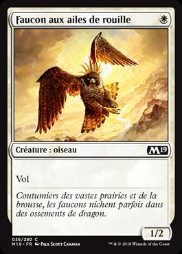Faucon aux ailes de rouille
