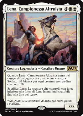 Lena, Campionessa Altruista