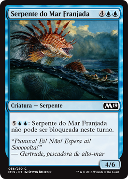 Serpente do Mar Franjada