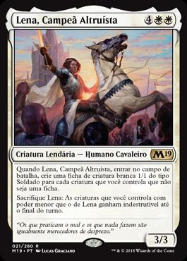 Lena, Campeã Altruísta