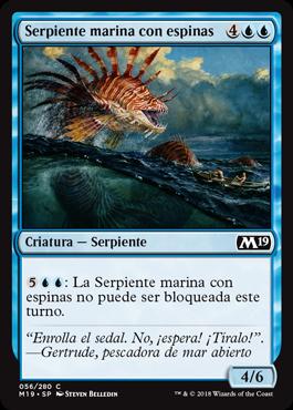 Serpiente marina con espinas
