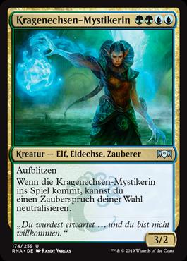Kragenechsen-Mystikerin