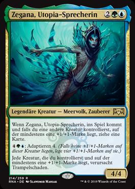Zegana, Utopia-Sprecherin