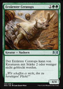 Erzürnter Ceratops