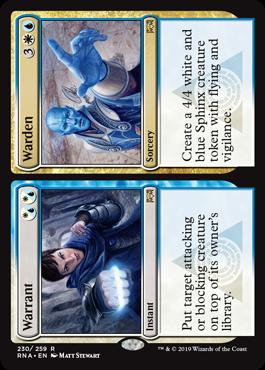 Warrant // Warden - Magic: the Gathering