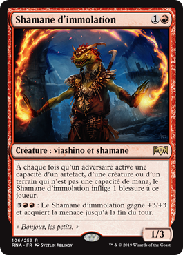 Shamane d'immolation