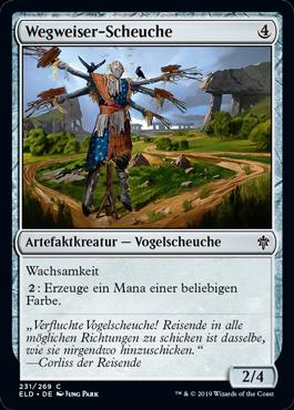 Wegweiser-Scheuche