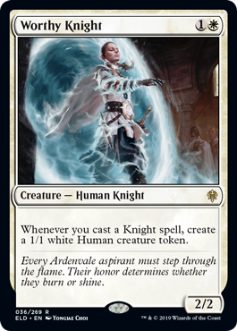 Worthy Knight - Magic: the Gathering